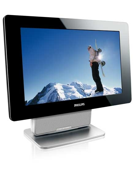 philips pvd1079 tragbarer 25cm lcd fernseher mit dvb ebay. Black Bedroom Furniture Sets. Home Design Ideas