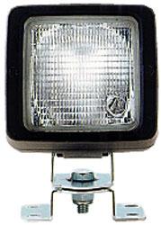 Quadratischer Scheinwerfer mit B�gel + 12V Birne, ohne Griff 137000