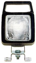 Quadratischer Scheinwerfer mit B�gel + 12V Birne, mit Griff 137018