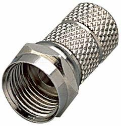 F Stecker 2er Set f�r 6,5mm Kabel 705574