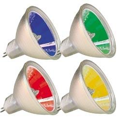 4 farbiges Halogen Lampen Set 633487