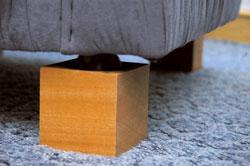 Holzcubus M�bel Erh�hung 10 cm/ 4St�ck