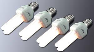 4 er Set Energiesparlampen E 27/ 15 W 371690