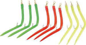 Westfalia-Das Spezialversandhaus 9 er Makk-Haken Set mit Gummi, je3 x Rot/ Gr�n / Gelb, 6/O