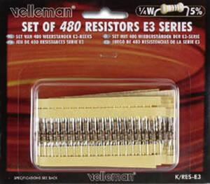 Widerstands-Sortiment E3, 0,25W, 16 Werte a 30 St�ck