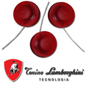 3 er Set Ersatzspulen f�r Akku Rasentrimmer Typ 6018 von Lamborghini 107409