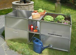 Quadro Hochbbeet, Komposter und Zwischenablagen Komplettsystem 102707